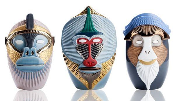 Macacos inspiram vasos de Elena Salmistraro